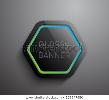 Stock photo: Abstract dark glossy hexagons tech background