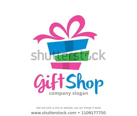 cadeau · logo · symbole · personne · prime · design - photo stock © meisuseno