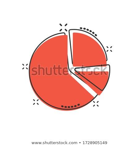 Business cirkeldiagram vector cartoon illustratie Geel Stockfoto © RAStudio