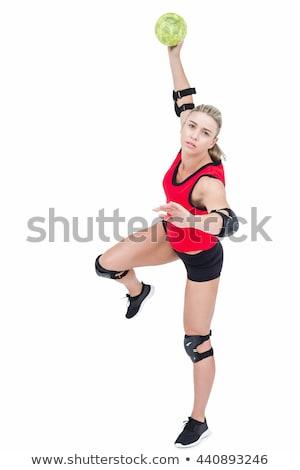 ハンドボール · プレーヤー · 女性 · 行使 · 孤立した - ストックフォト © wavebreak_media