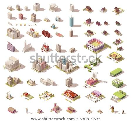 Industrial building factory isometric 3D element Stock photo © studioworkstock