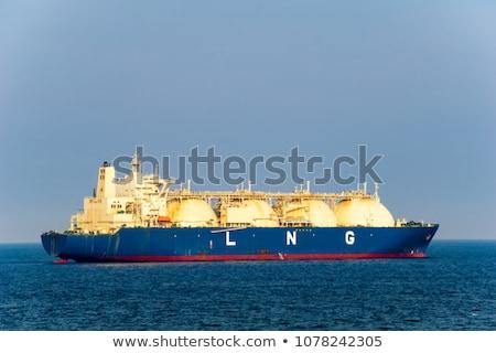 Groß Erdgas stilisierten marine Transport groß Stock foto © tracer