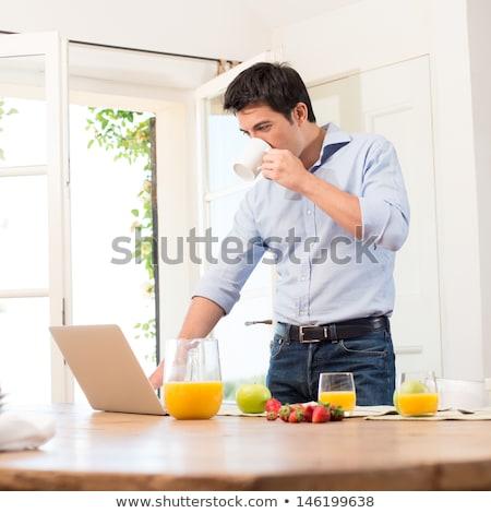 gelukkig · uitvoerende · opwinding · laptop · computer · kantoor - stockfoto © wavebreak_media