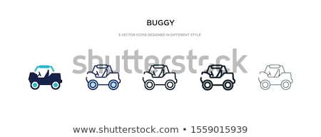 Baby buggy icon in different style Stock photo © sidmay
