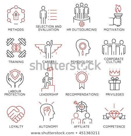 ícones conjunto negócio gestão humanismo recursos Foto stock © Genestro