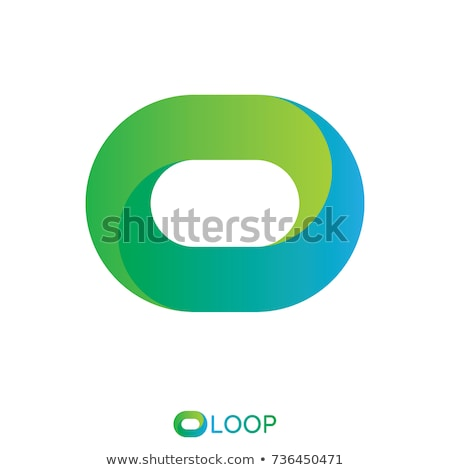 twisted loop oval letter o logo concept. vector illustration. Stock photo © taufik_al_amin