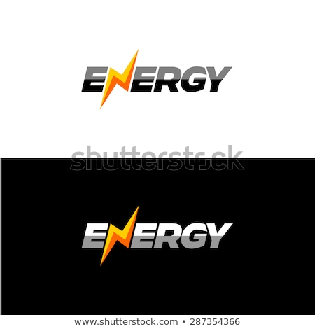 orange thunder bolt sign logo Stock photo © vector1st