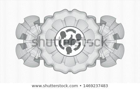 Vecteur web élément circulaire bouton Photo stock © rizwanali3d