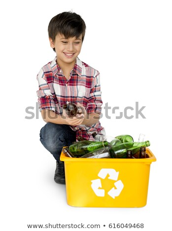 young boy recycling in studio stock photo © monkey_business