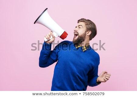 a man with a megaphone Stock photo © studiostoks