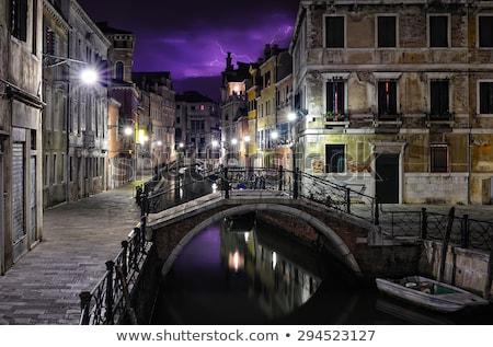 Sağanak Venedik kanal fırtına İtalya su Stok fotoğraf © Givaga