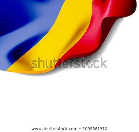 フラグ ルーマニア クローズアップ 影 白 ストックフォト © m_pavlov