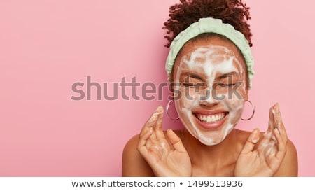 Adolescente acne cara ilustração mão médico Foto stock © bluering