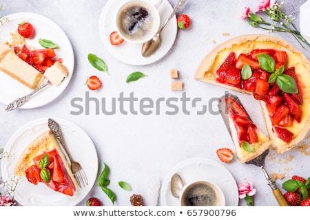 кофе · торт · деревянный · стол · завтрак · обед - Сток-фото © melnyk