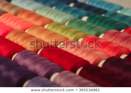 Stock fotó: Cséve · fonál · közelkép · fehér · kötött · ruházat