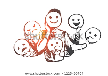 People Expressing Emotions Vector Illustration Stock photo © robuart