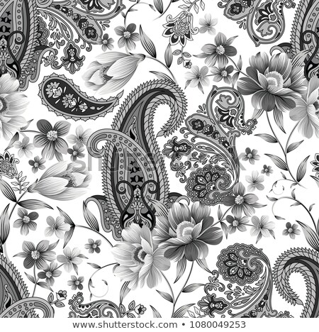 Paisley grey seamless vector pattern. Stock photo © yopixart