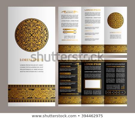 Preto mandala aviador modelo de design abstrato asiático Foto stock © SArts
