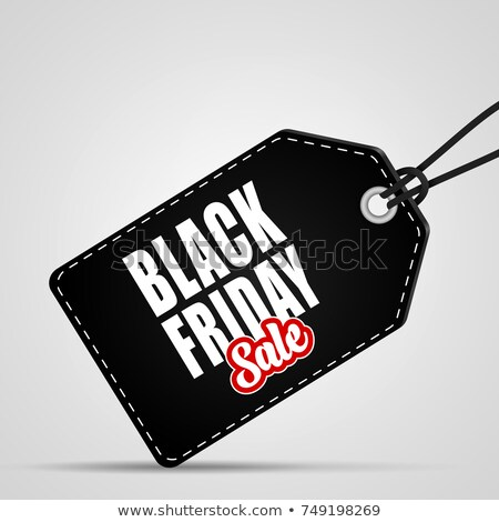 black friday black tags on the rope price on product stock photo © aisberg