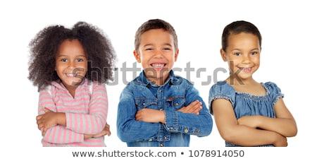 Happy smiling three afro children. Stock photo © NeonShot