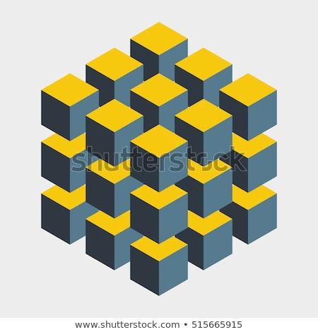 cubo · isolato · bianco · abstract · vettore · arte - foto d'archivio © robuart