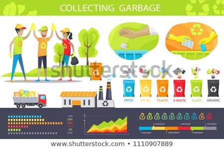 Raccolta garbage classifiche set persone Foto d'archivio © robuart