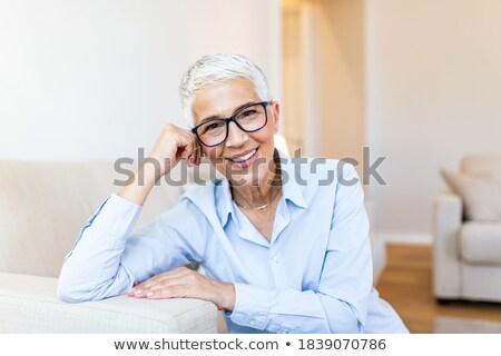 Сток-фото: короткие · волосы · старые · набор · женщины · отпуск · подчеркнуть