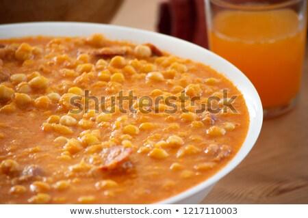tigela · cremoso · batata · doce · sopa · bandeja - foto stock © imaagio