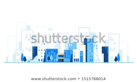 Edifício cidade scape cena ilustração rua fundo Foto stock © bluering