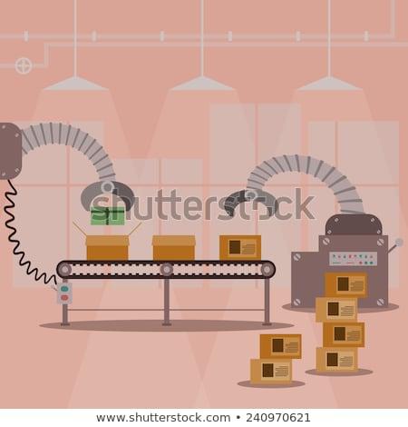 Gift Boxes On Conveyor Stock photo © albund
