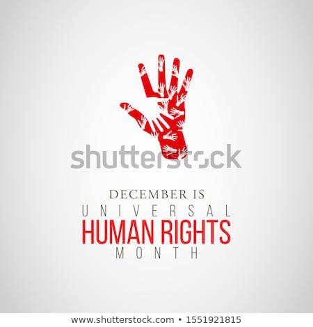 internacional · direitos · humanos · cartão · diverso · mulheres · mês - foto stock © cienpies