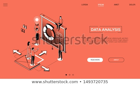 Daten Analyse modernen line Design Stil Stock foto © Decorwithme