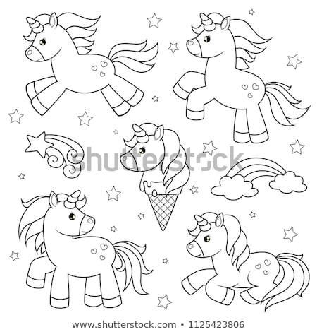children or teen characters set coloring book Stock photo © izakowski