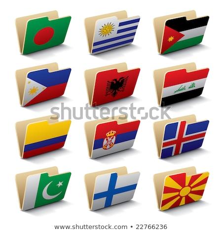 Mappa zászló Pakisztán akták izolált fehér Stock fotó © MikhailMishchenko