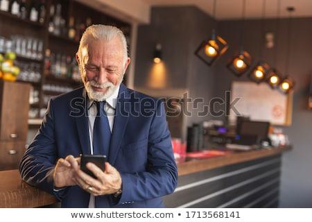 senior · zakenman · telefoon · business · kantoor · man - stockfoto © Minervastock