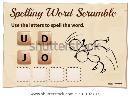 Spelling word scramble game with word judo Stock photo © colematt