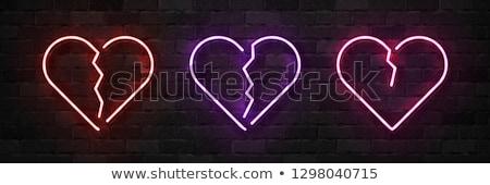 Broken Heart Neon Sign Stock photo © Anna_leni