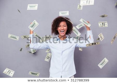 Foto surpreendido africano americano mulher cabeça Foto stock © deandrobot