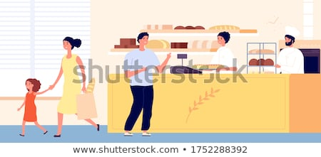 Bread and Buns Showcase of Bakery Shop Market Stock photo © robuart
