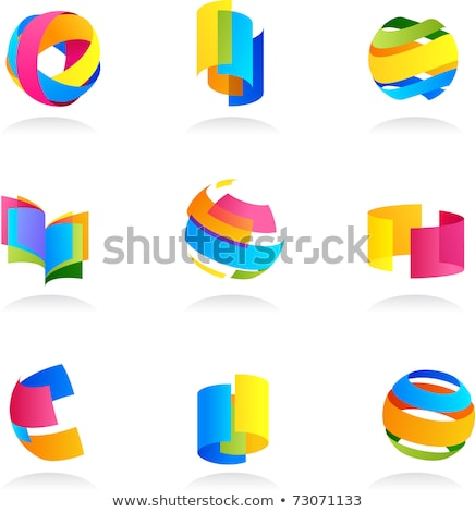 compute with geometric shapes and icons vector stock photo © robuart