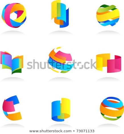 Photo stock: Géométrique · icônes · vecteur · profile · personnes