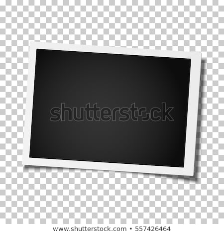 Stock photo: Empty photo frame with shadow. Template for photo, image.