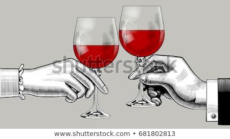 due · occhiali · frizzante · vino · bolle · bianco - foto d'archivio © patrimonio