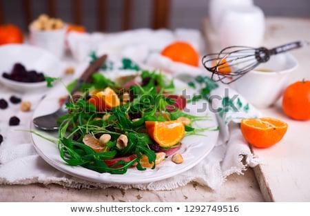 Jambon salata pansuman balık yaz yeşil Stok fotoğraf © zoryanchik