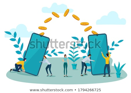Internet Online Earnings Isometric Concept Stock photo © -TAlex-