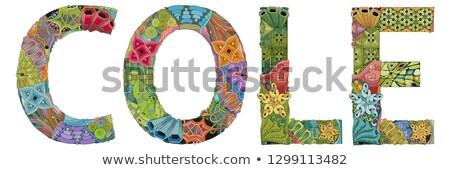 male name cole vector decorative zentangle object stock photo © natalia_1947