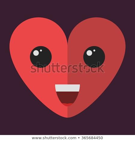 Kırmızı kalpler daire vektör ikon dizayn Stok fotoğraf © blaskorizov