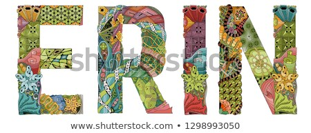 female name erin vector decorative zentangle object stock photo © natalia_1947