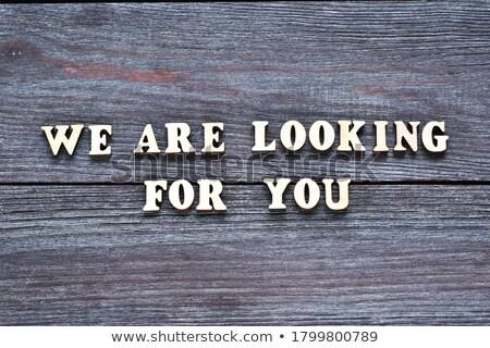 employee looking for work. job word inscription Stock photo © studiostoks