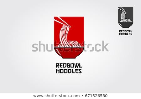 Colore sketch cibo cinese finestra mano disegno Foto d'archivio © netkov1